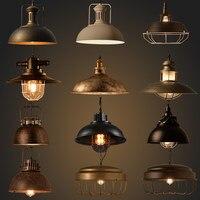 Industrial Home Deco Retro Pendant Lights Lamp Bar Dining Room Islands Vintage lustre pendente Led luminaria Hanglamp E27