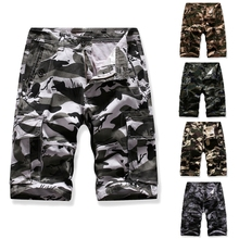 Men Shorts Camouflage Pure Cotton Brand Clothing Comfortable Casual Tactical Multi-pocket multi-color Camo Cargo