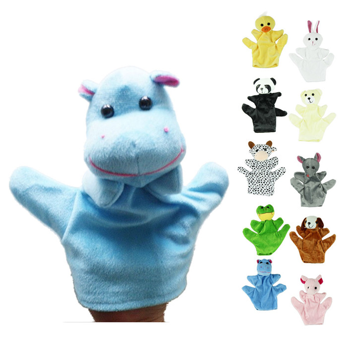 Cute Big Size Animal Glove Puppet Hand Dolls Plush Toy Baby Child Zoo Farm Animal Hand Glove Puppet Finger Sack Plush Toy FEB25
