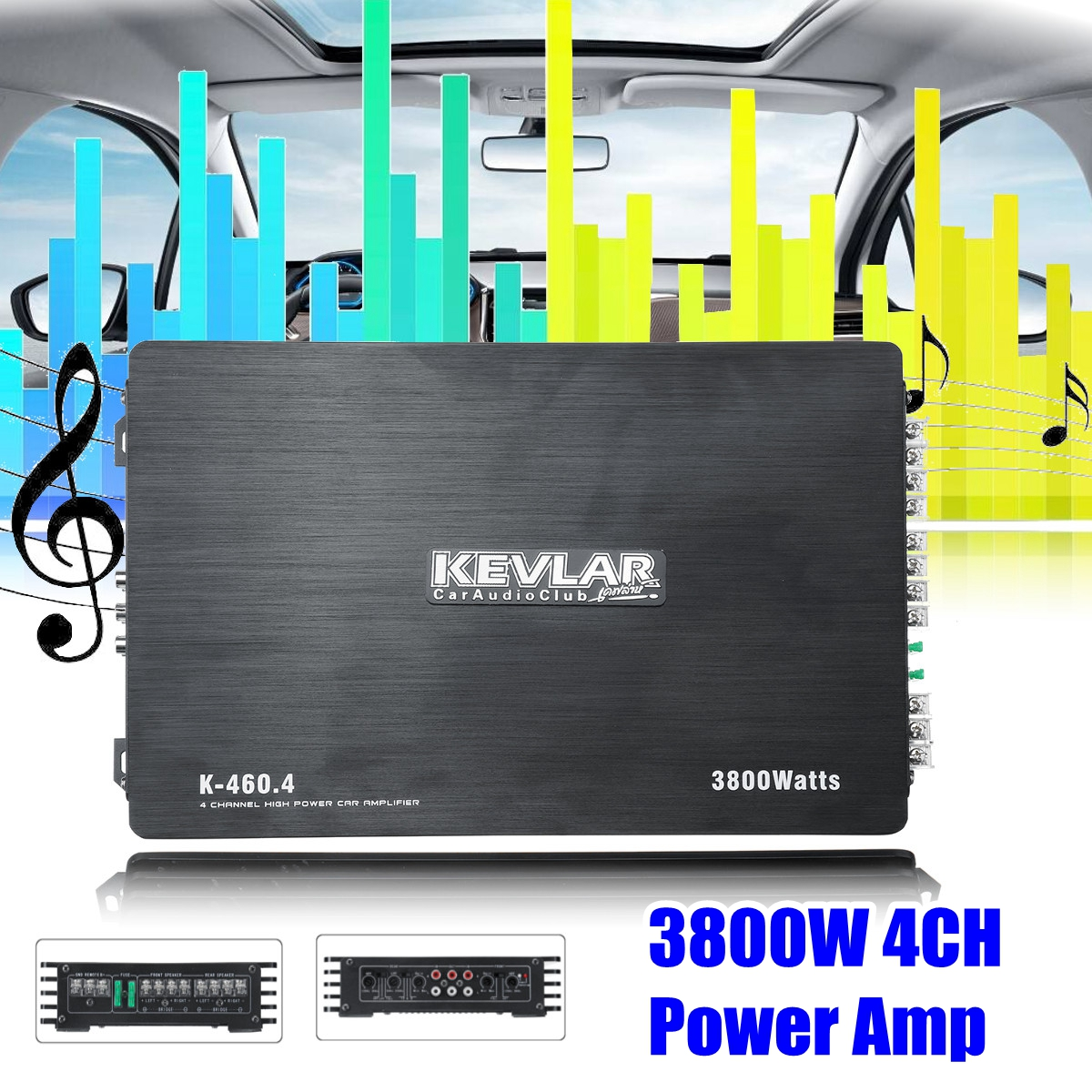 3800W 4 Channel Equalizer Home Stereo Power Amplifier USB Car Amplifier Home Theater Amplifiers Audio shinco s 9008 home theater amplifier 5 1 audio high power digital amplifier