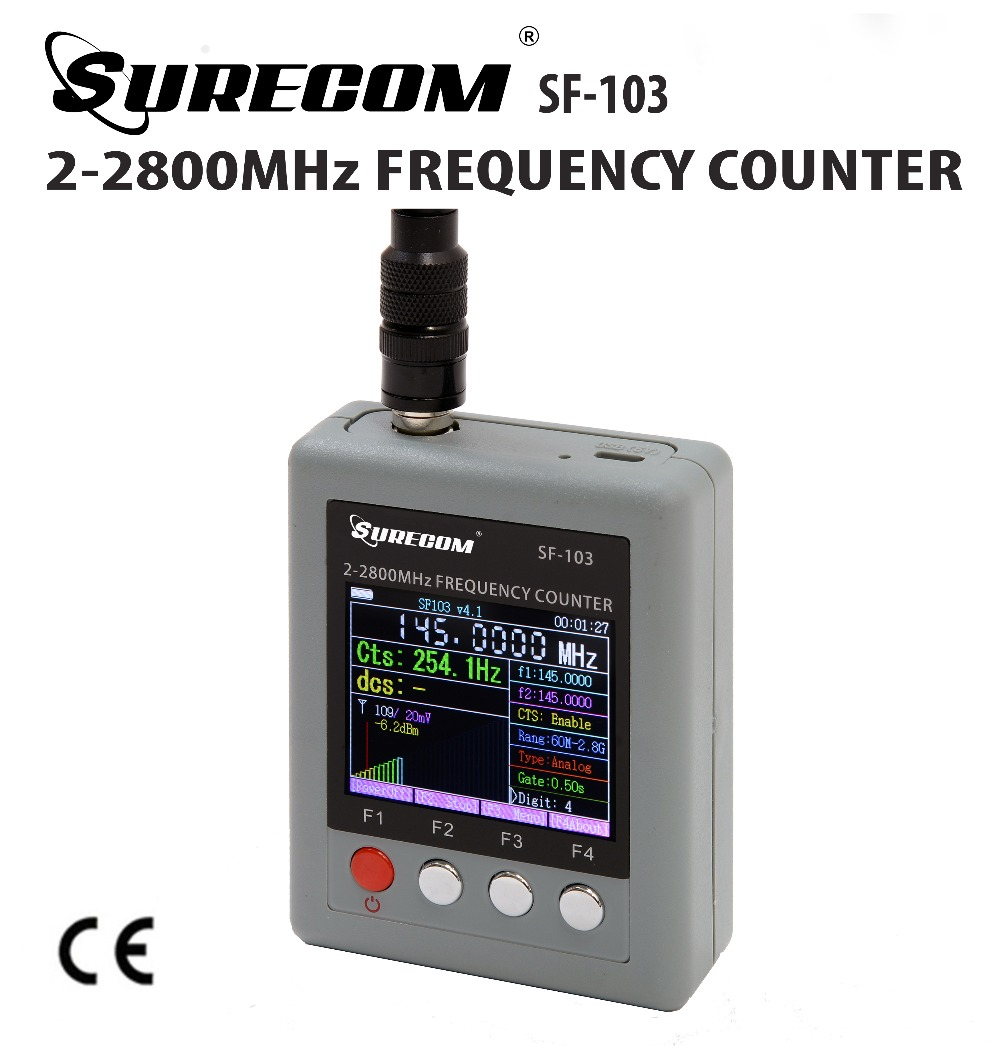 SURECOM SF-103 Portable Frequency Counter 2MHz - 2.8GHz