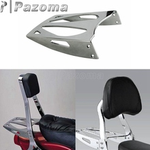 Motorbikes Chrome Steel Cobra Flat Rear Seat Sissy Bar Luggage Rack For Suzuki Boulevard M109R 2006-2016