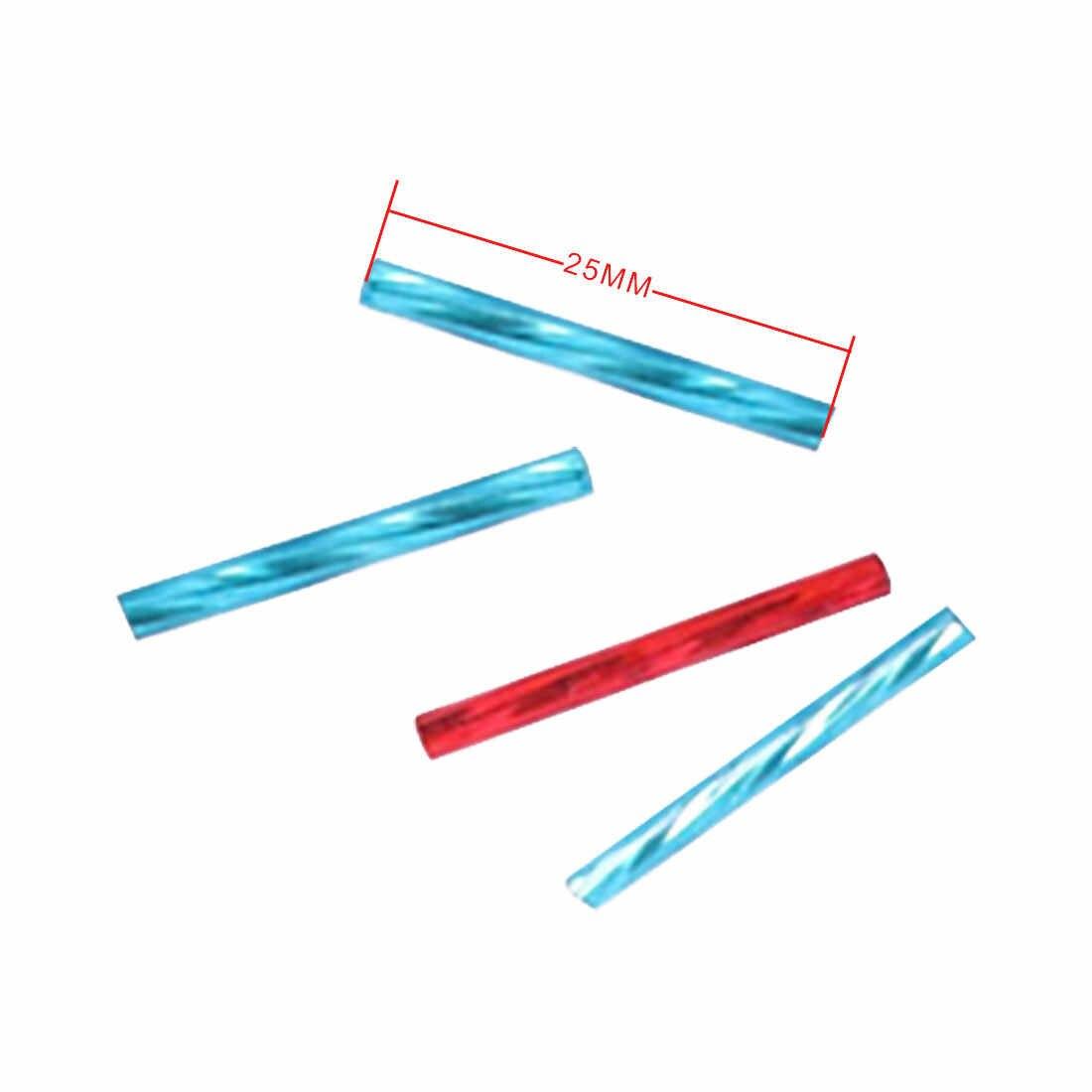 100 ชิ้น/เซ็ต 2.5 มม.* 25 มมภาษาเช็คคำ Twist Bugles 0/8 แก้วหลอดลูกปัดสำหรับเครื่องประดับทำ, ผู้หญิง DIY เย็บเสื้อผ้าอุปกรณ์เสริม