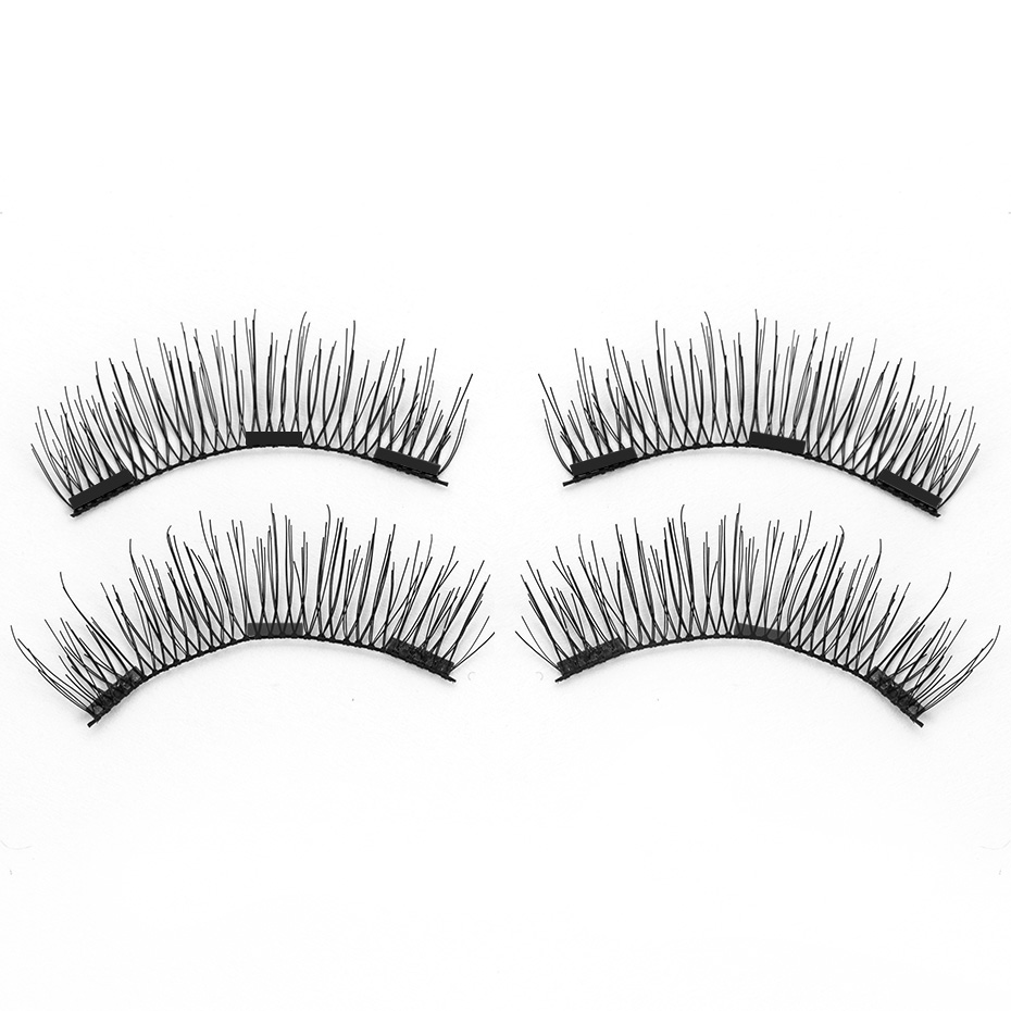 <font><b>Shozy</b></font> <font><b>Magnetic</b></font> <font><b>eyelashes</b></font> with 3 magnets handmade 6D magnet lashes natural false <font><b>eyelashes</b></font> comfortable with gift box-BK503-3 image