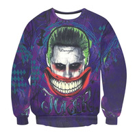 2017 New Arrival Men S 3d Print Character Sweatshirts Suicide Squad Hoodies Famous DC Movie Print