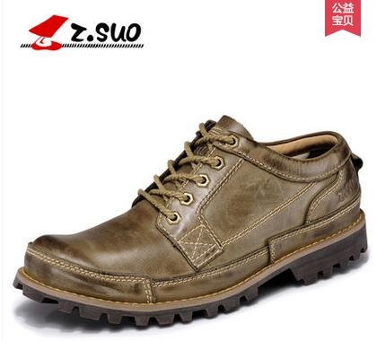 Zsuo men s fashion breathable plus size casual tooling shoes male brockden leather shoes ZS889G