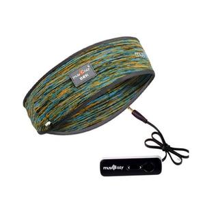 Image 2 - צעיף אוזניות אלחוטי Bluetooth כובע אוזניות שינה סרט כובע רך יוניסקס ספורט חכם לרוץ אוזניות סטריאו S L גודל עם מיקרופון