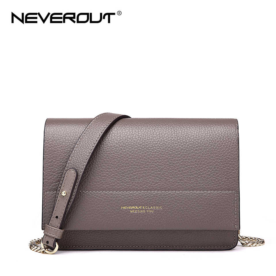 Detail Feedback Questions about NEVEROUT Soft Genuine Leather Bag for Women  Ladies Small Messenger Purse Solid Flap Shoulder Sac Chain Crossbody Mini  ... 9a6ee68a4b50e