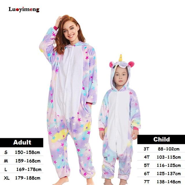 811a0f0f8 Kigurumi Kids Women Unicorn Pajamas Unisex Couples Onepiece Cartoon ...