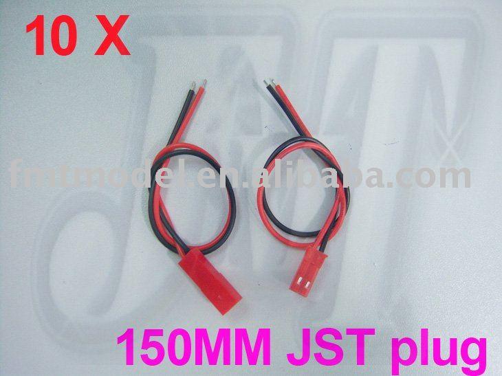 Amiable F00153-10 Jmt 10pairs 150mm 15cm Jst Connector Plugs Plug Wires For Rc Plane Bec Lipo Battery F00153-10 Parts & Accessories Fs More Discounts Surprises Toys & Hobbies