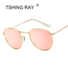 TSHING RAY Vintage Small Round Sunglasses Women Men Classic Brand Designer Metal  Pink Retro Mirror Sun Glasses Female Lady -in Sunglasses from Apparel ... c0be499a85
