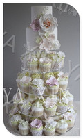 Storey 12 cm 5 Tier Maypole Clear Acrylic Wedding Cupcake Stand 5 Tier Perspex Cupcake Stands Plexiglass Cake Stands