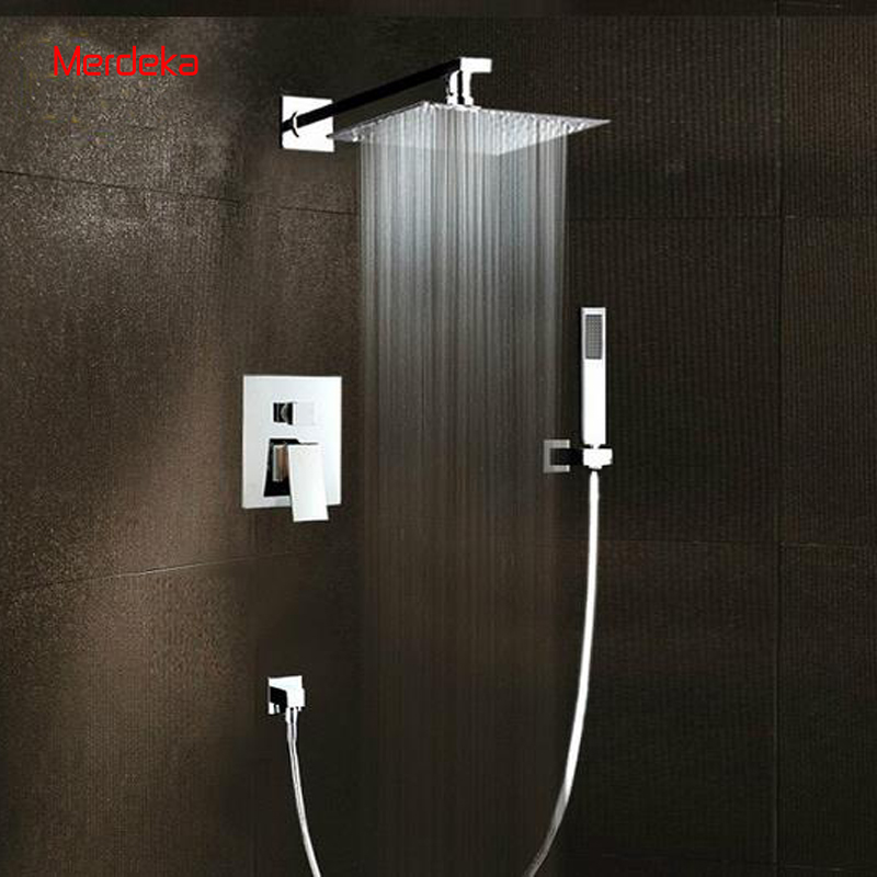 Shower Set System Square Shower Bath Mixer With Diverter Tap With 8 ...