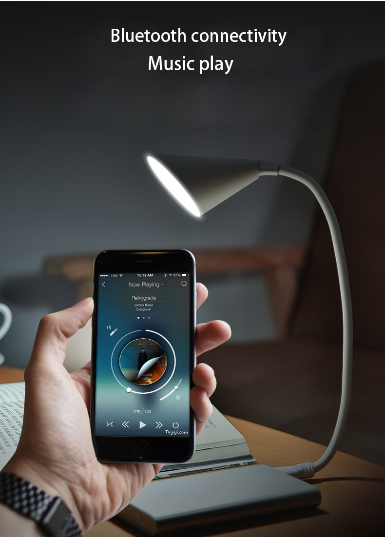 Adjustable Flexible Lamp Desk for Reading Studying Table Lamp Eye Protect Music Book Light USB Touch Sensor Brightness