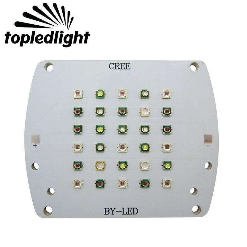 Topledlight DIY Cree XPE XP-E+Epileds Led Emitter Bulb Lamp Light 430NM 530NM 460NM 630NM 5000K For Plant Grow Led Lamp Lighting 2pcs epileds 7070 uv purple 395nm led emitter lamp light 6 8v light source for diy on 20mm copper pcb board