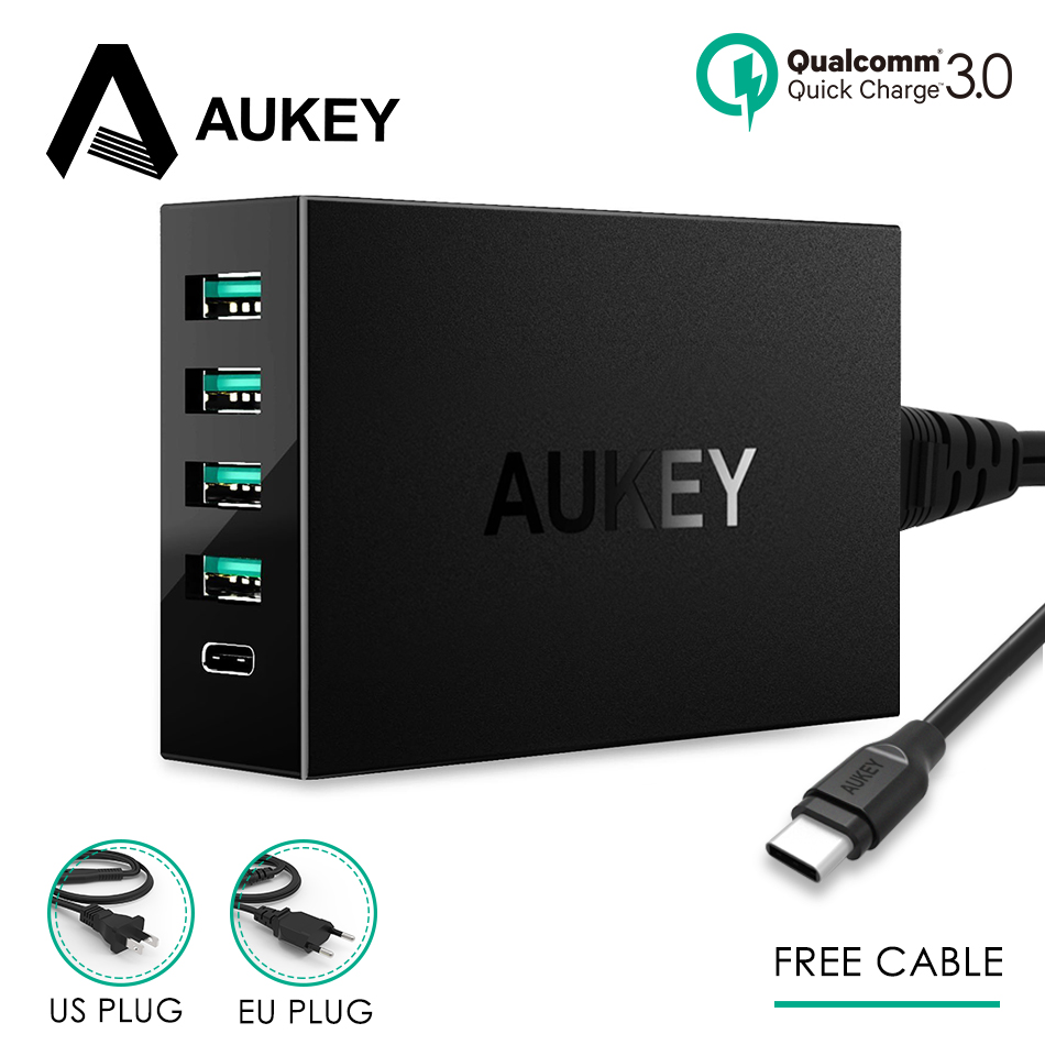 Type C Charger AUKEY USB Desktop Charger Quick Charge 3.0 54s