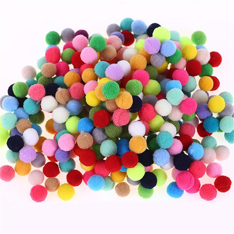 100 шт. DIY Смешанные красочные мини пушистые мягкие помпоны мяч искусств Handmad ремесла украшения плюшевые шары подарок