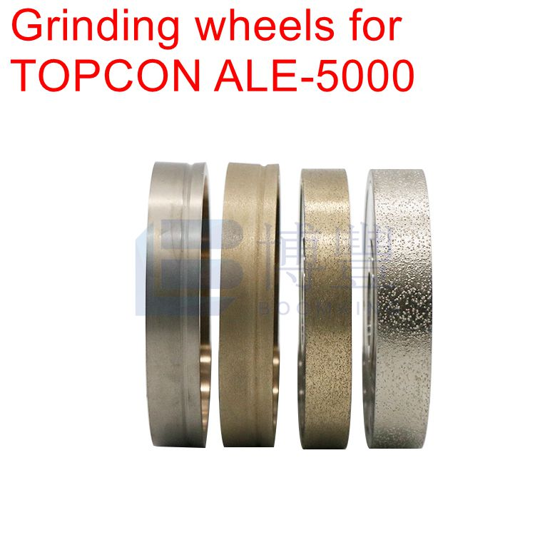 4 PCS PC GLASS ROUHING FINE V POLISHING V wheels for TOPCON ALE 5100 SG Auto