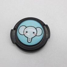 Teste padrão bonito do Elefante Camera Lens Cap Capa de Proteção 40.5mm lente cobrir para sony a5000 a6000 a6300 a6300l 5 t 5r 3n Universal