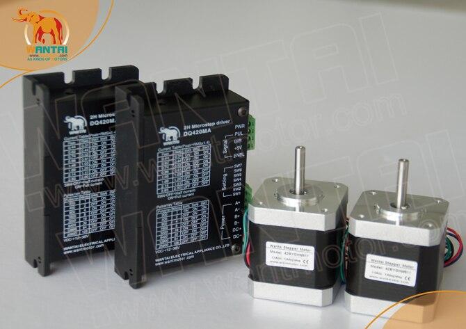 2 assi wantai kit router di cnc Nema 17 Stepper Motor 42BYGHW609 70oz-in & Driver DQ420MA 1.7A36V 128 Micro taglio, 3D stampante2 assi wantai kit router di cnc Nema 17 Stepper Motor 42BYGHW609 70oz-in & Driver DQ420MA 1.7A36V 128 Micro taglio, 3D stampante