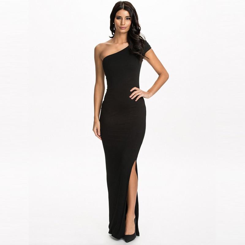 MILLYN Women Sexy Wear Summer Style Bodycon Dresses Black Cut Short Sleeve side Split Sheath plus Maxi Dress M XXXL in Dresses from Women 39 s Clothing