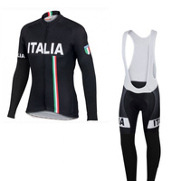 2016 winter thermal fleece national Italia cycling jersey Ropa Ciclismo long sleeve racing bike cloth MTB Bicycle maillot