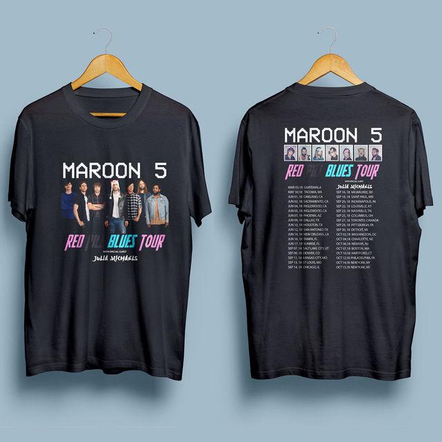 4e6eaa39 Maroon 5 Red Pill Blues Tour 2018 Men'S Gildan Black T Shirt S 4Xl ...