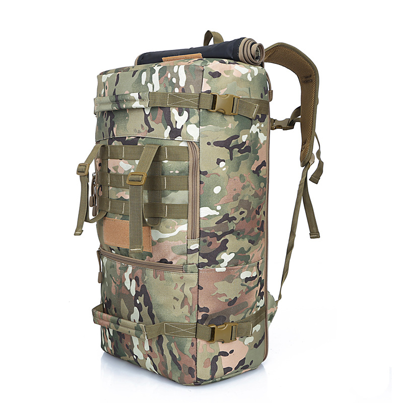 Large-capacity backpack bag mountaineering bag 50L Top Quality camouflage backpack waterproof cover military women/ men backpack цены