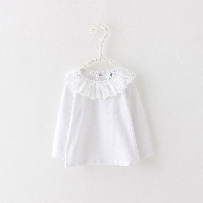 2020 spring girls bottoming shirt children cotton wild Lotus collar T-shirt factory direct 2-7 year
