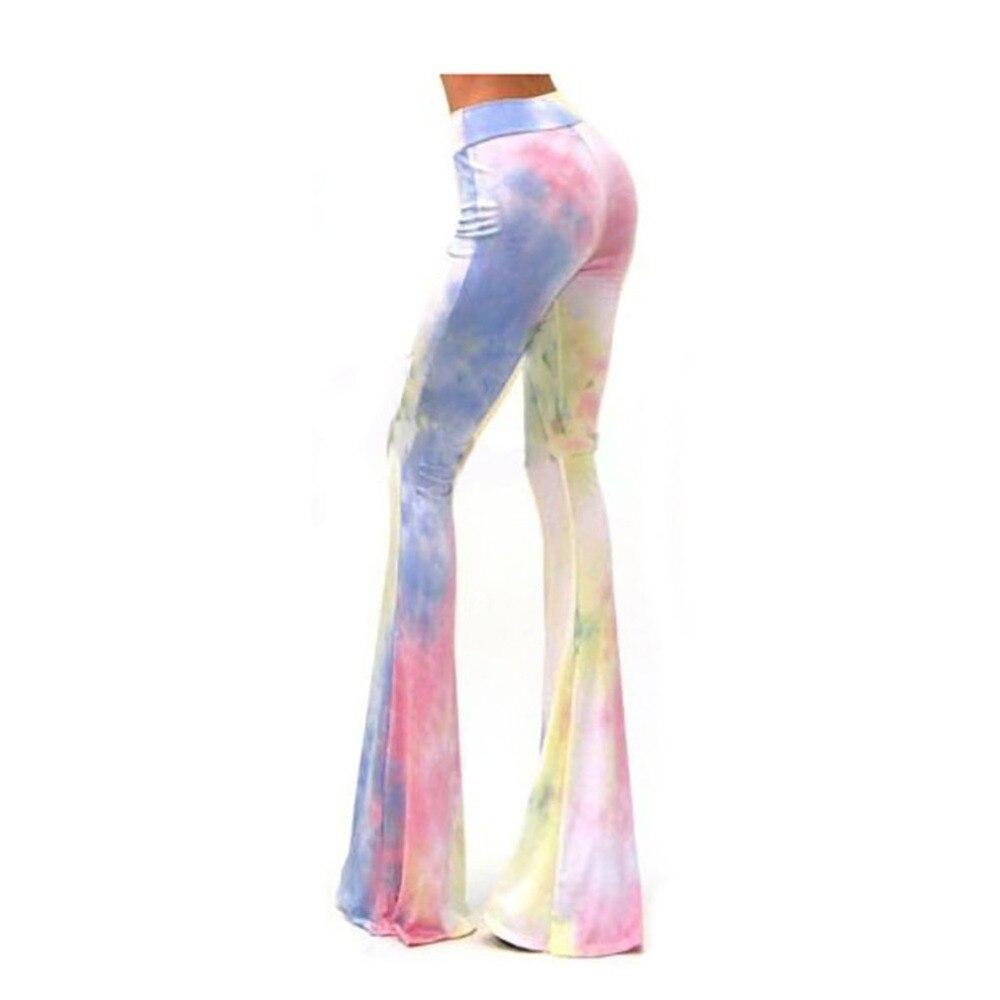 Fashion Women Flare Pants Summer Autumn Slim Long Trousers Ladies Casual Loose Wide Leg High Waist Flared Pants Streetwear