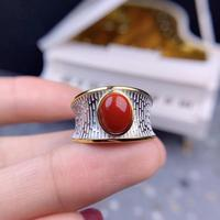 charming red Coral Gemstone Ring man ring women ring natural coral gem good red color 925 sterling silver noble attractive gift