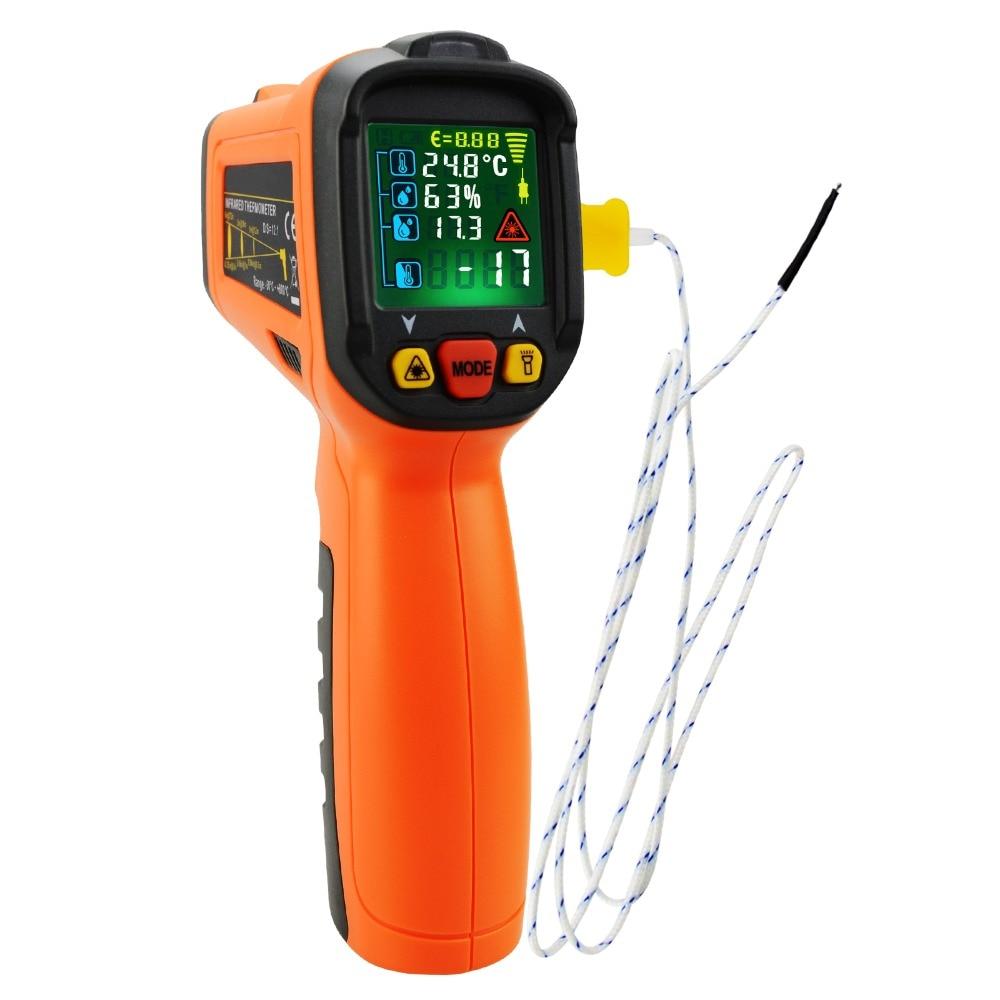 Senza Contatto 5-in-1 Termometro A Infrarossi w/K-Tipo, La Luce UV Rilevare Perdite di, DP, IR di Superficie e Temperatura Ambiente e Umidità 0.5 s