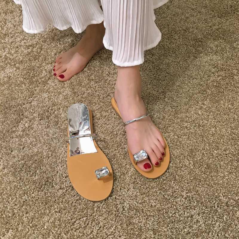 Frauen schuhe hausschuhe tragen die neue sommer 2019 wasser bohrer hang ferse nass wasser strand schuhe mit zehen sandalen