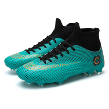New Football Boots High Ankle Men's Training Sneakers FG Superfly Adult Kids Sport Soccer Cleats Shoes Outdoor Grass Lawn Futbol