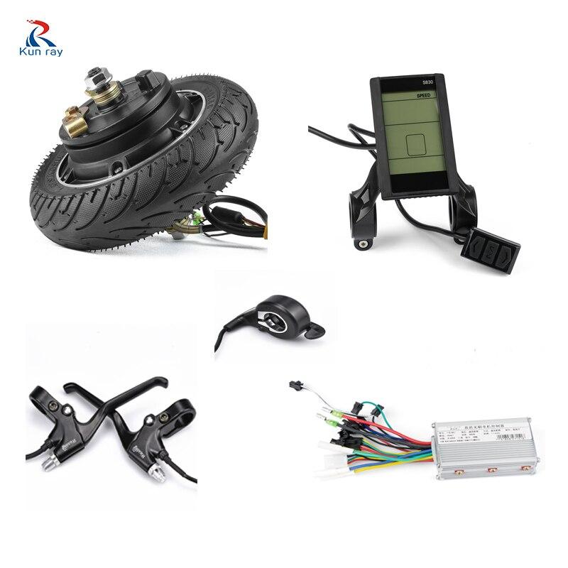 Kun ray 24V 36V 48V 350W Hub Motor Elektrische Fahrrad Bürstenlosen Motor Display Elektrische Bike Umwandlung kit mit Batterie 8 zoll