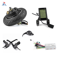 kun ray 24V 36V 48V 350W Hub Motor Electric Bicycle Brushless Motor Display Electric Bike Conversion Kit with Battery 8 inch