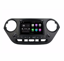 "2 GB RAM Quad Core 2 Din 7 ""Android 7.1 coches reproductor de DVD para Hyundai i10 2014 2015 con GPS Radios Bluetooth wifi 16 GB ROM USB dvr"