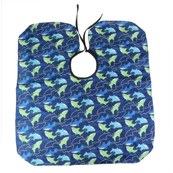 Салон водонепроницаемый для парикмахерской шапочка парикмахера платье морской рыбы узорные моделирование бороды плащ для детей - Цвет: sea fish