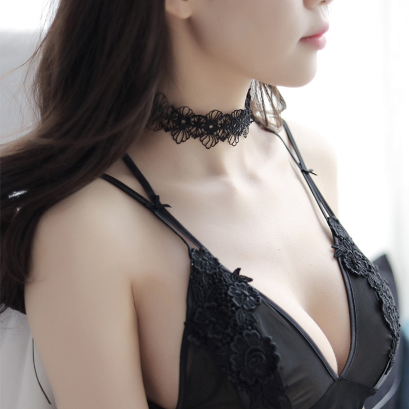 Interesting Underwear Accessories Necklace Hollow Lace Necklace Water-soluble Necklace Adult Supplies Set SM