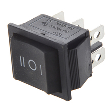 6-Terminals 3 Position ON/OFF/ON DPDT Boat Rocker Switch 16A 250VAC 20A 125VAC