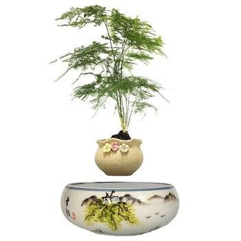Poterie Plante d'intérieur en lévitation pot de fleur magnétique
