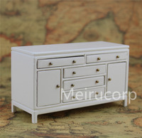 Dolls House 1 12 Scale Miniature Furniture Lovely White Wood Side Cabinet