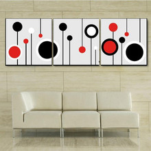 3 Panel Pictures Hand Painted Abstract Geometric Oil Painting on Canvas Handmade Simple Acrylic Paintings Wall Art Home Decor