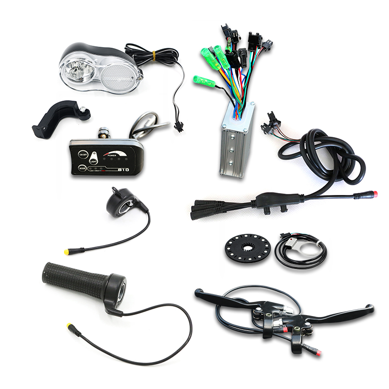 36V 48V Electric bicycle Conversion Kit No Battery And Brushless Motor Water Proof Cable bldc Controller