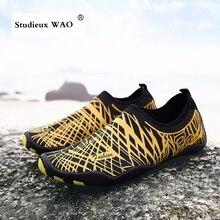 Пляжный водный Спортивный обувь для плавания, дайвинга, мужские кроссовки большого размера, летняя обувь для серфинга, детская, женская, босиком, морская акваобувь