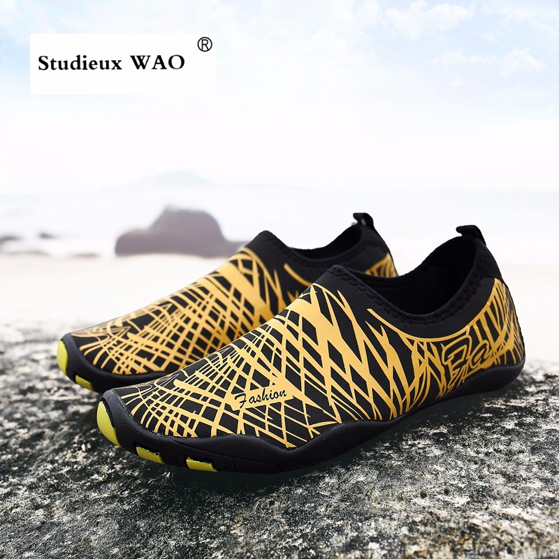 Beach Water Sports Shoes Swiming Diving Men Big Size Sneakers Summer Surfing Footwear Kids Women Barefoot Seaside Aqua Shoes Hot in Water Sports Shoes from Sports Entertainment