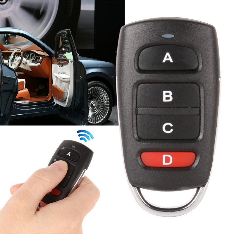 Remote Control Duplicator Copy 433mhz Remote Control Fixed Code For Universal Garage Door Gate Key Fob Command Garage