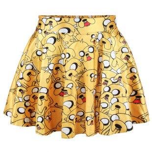 2015 Neue Design Mode Frauen Röcke Im Sommer Dame Euramerican Stil Gelbe Cartoon 3 D Digital Print Rock Und Ein Langes Leben Haben.
