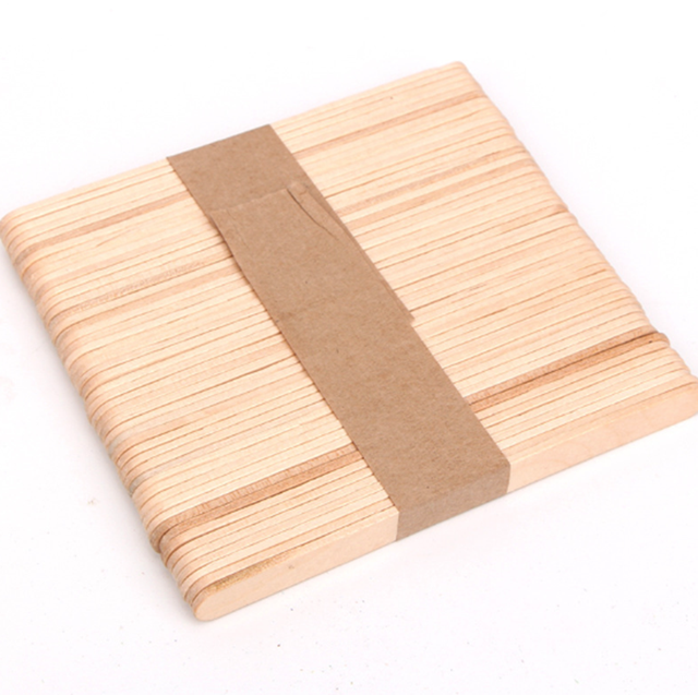50pcs Lot Wooden Popsicle Sticks Natural Wood Ice Cream Sticks Kids