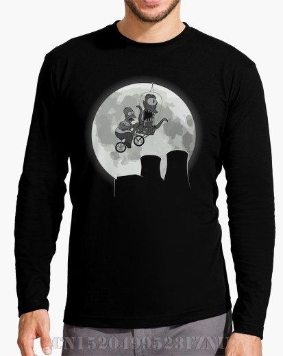 2017 Autumn and Winter Panic buying mens Long Sleeve fashion t shirts Kodos the extraterrestrial Character Long O neck